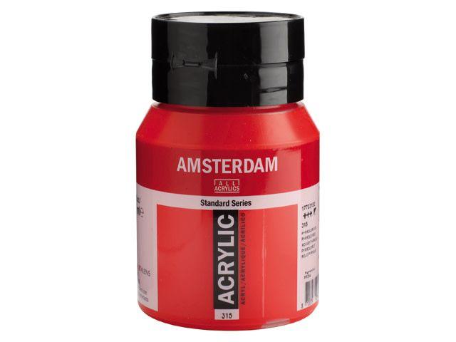 Talens Amsterdam acrylverf Pyrrolerood 500ML