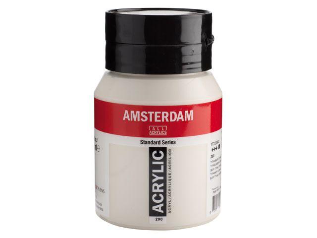 Talens Amsterdam acrylverf Titaanbuff donker 500ML