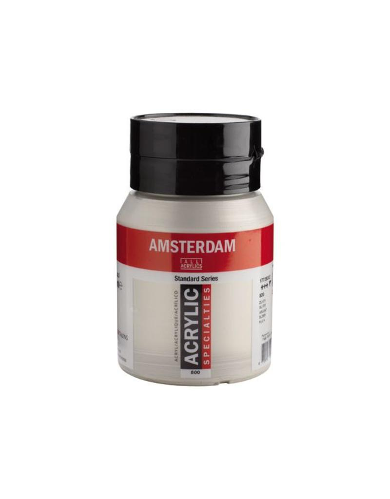Talens Amsterdam acrylverf Zilver 500ML