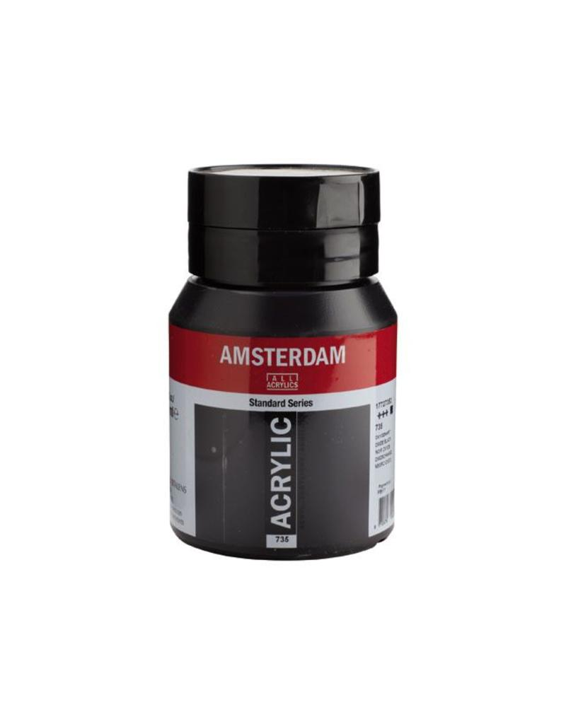Talens Amsterdam acrylverf Oxydzwart 500ML