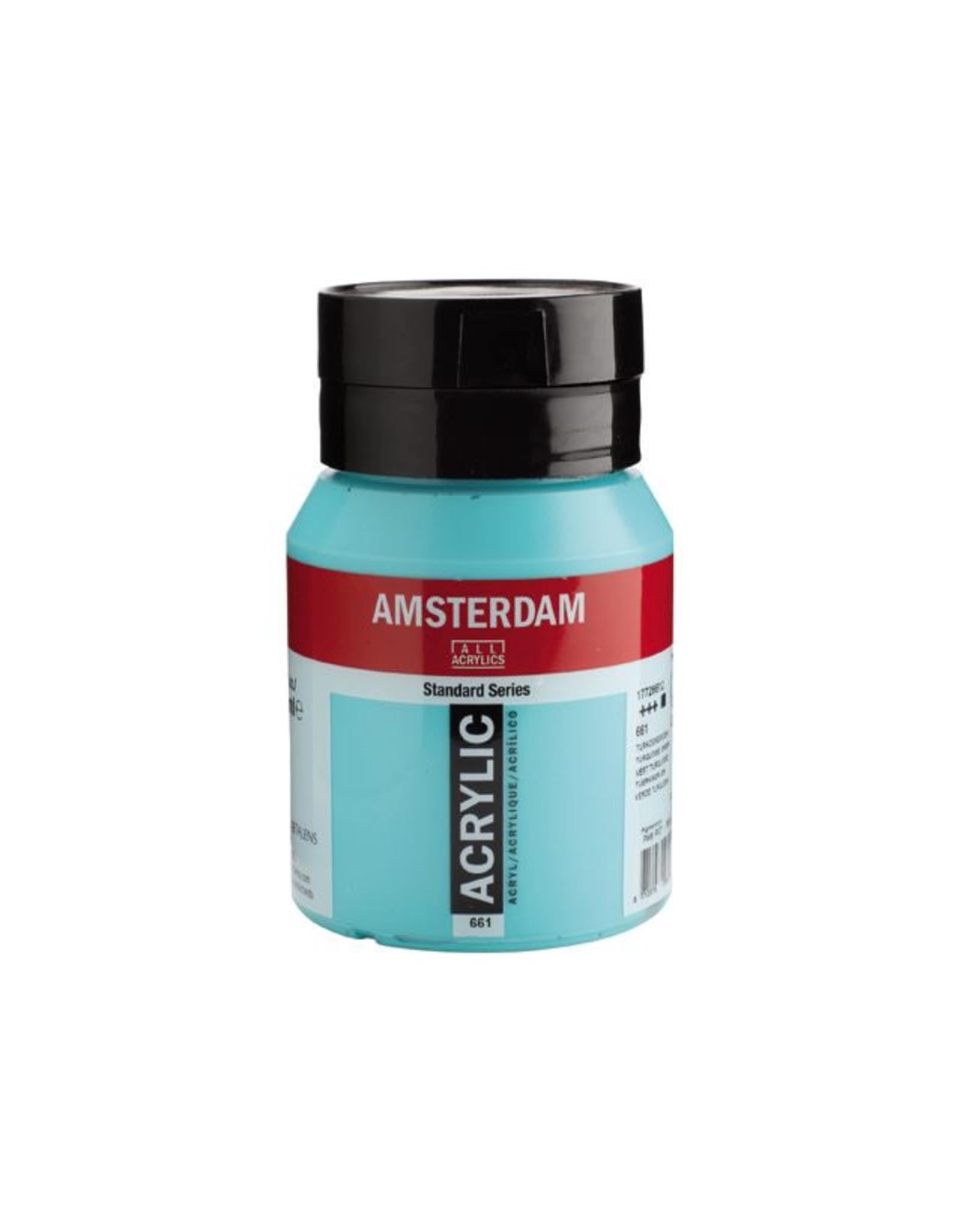 Talens Amsterdam acrylverf Turkooisgroen 500ML