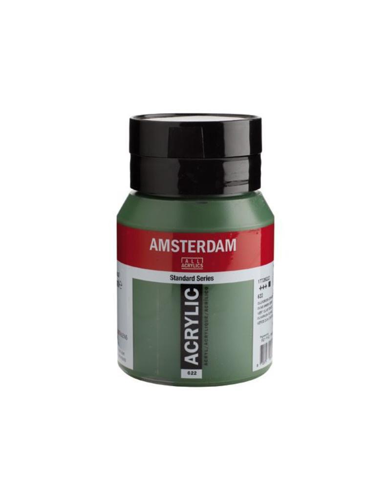 Talens Amsterdam acrylverf Olijfgroen donker 500ML
