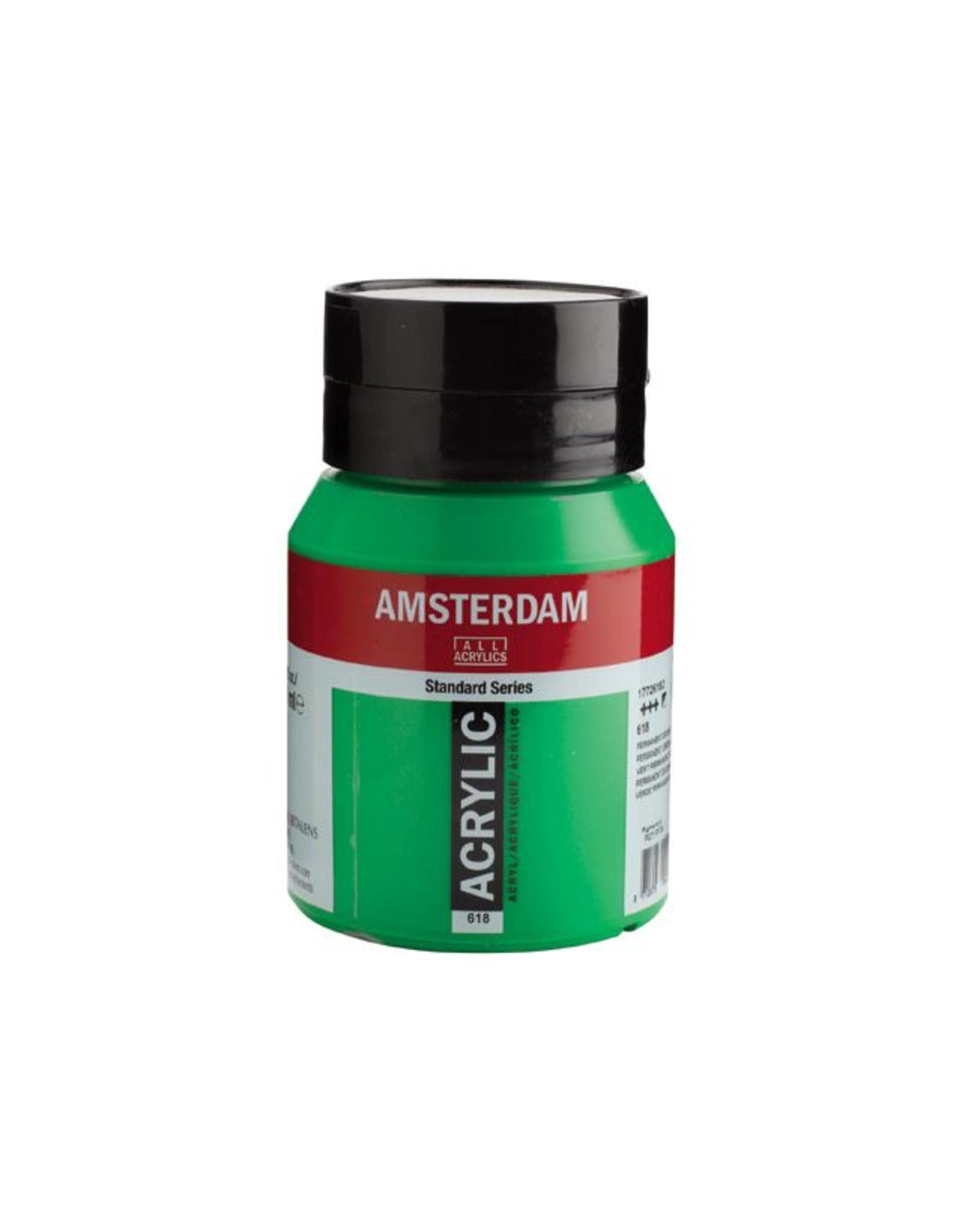 Talens Amsterdam acrylverf Permanentgroen licht 500ML