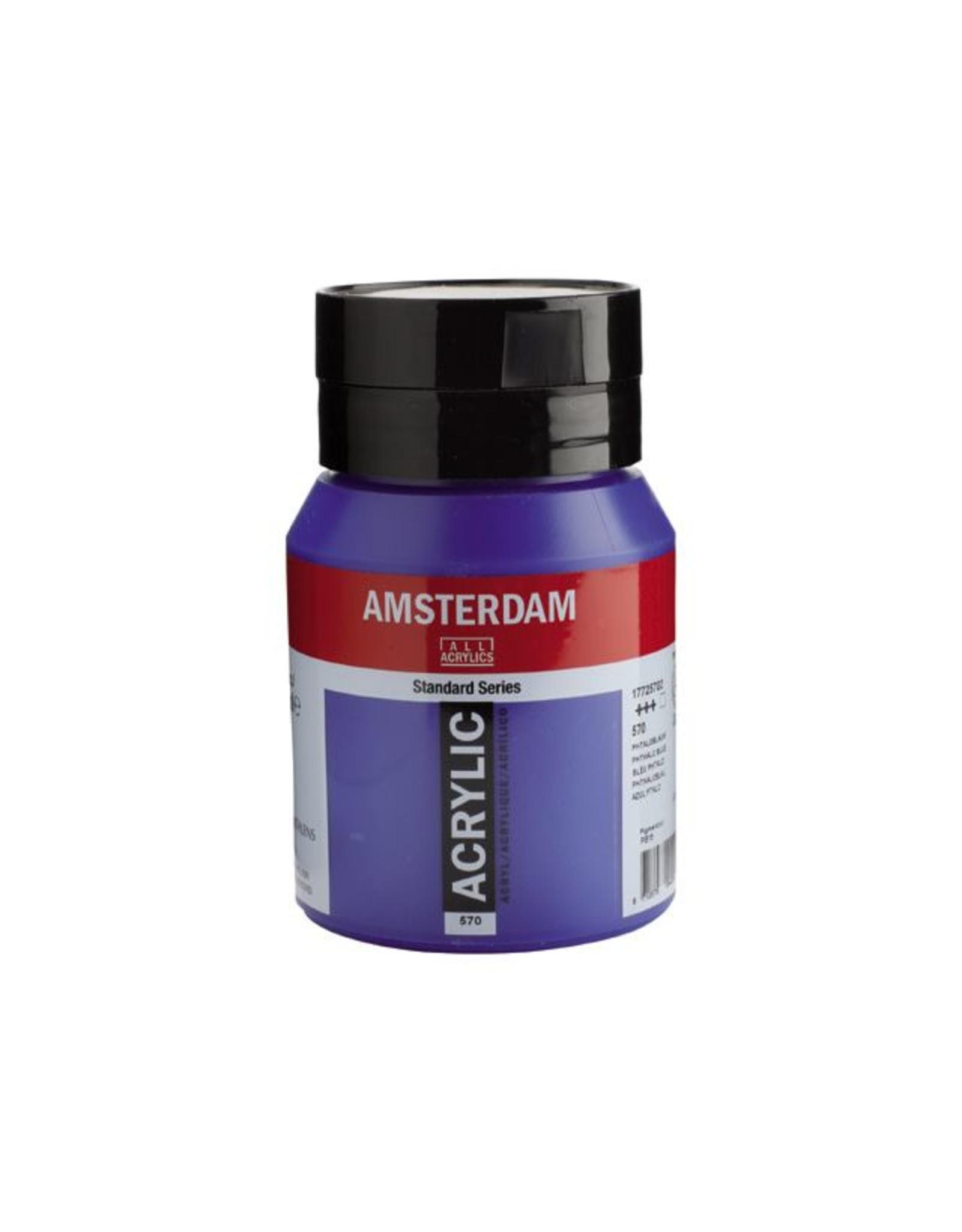 Talens Amsterdam acrylverf Phtaloblauw 500ML
