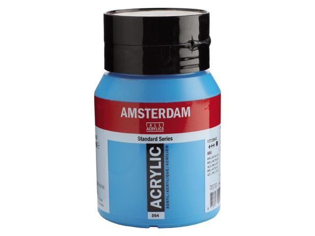 Talens Amsterdam acrylverf Briljantblauw 500ML