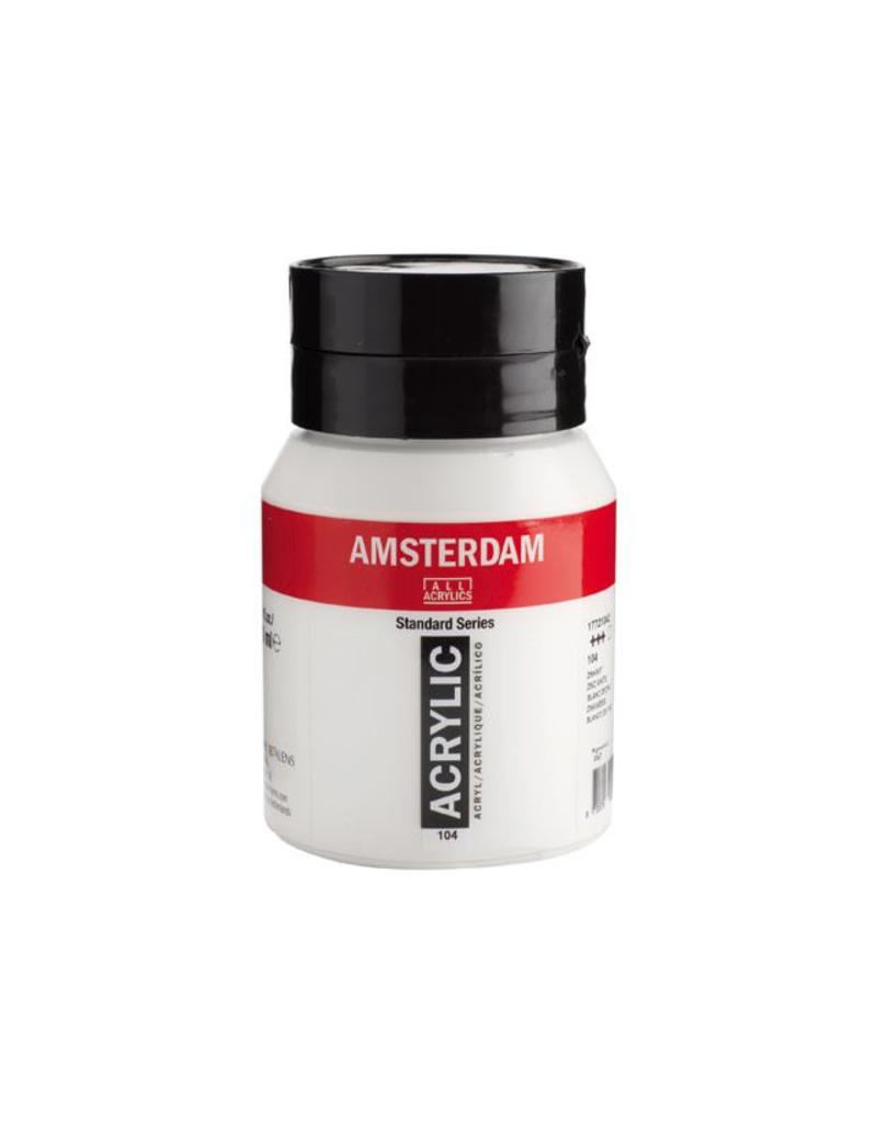 Talens Amsterdam acrylverf Zinkwit 500ML