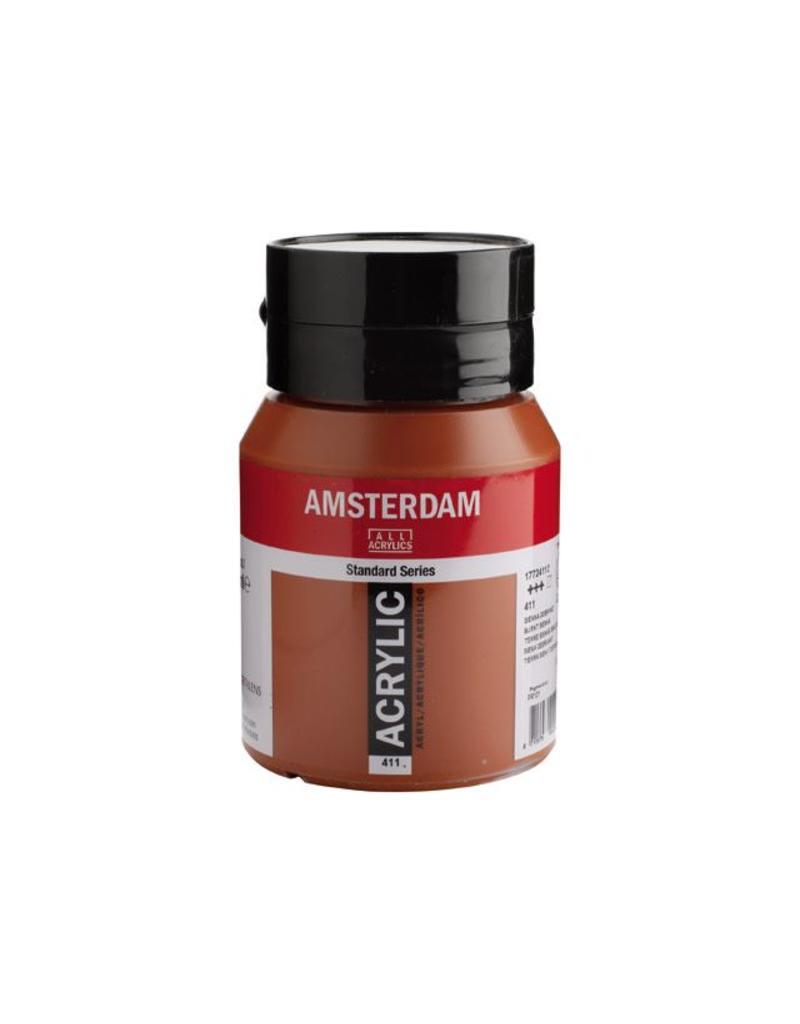 Talens Amsterdam acrylverf Sienna gebrand 500ML