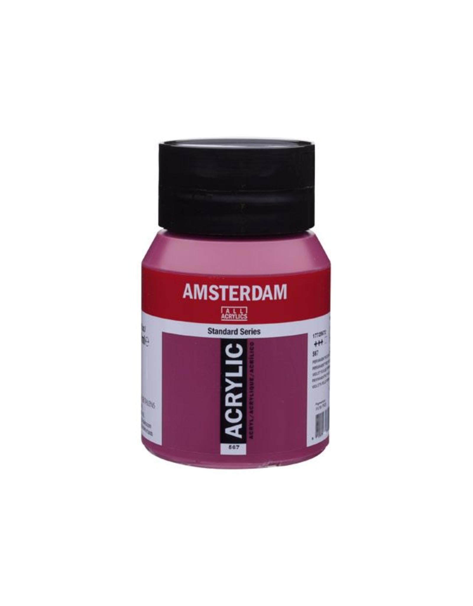 Talens amsterdam acrylverf permanentrood violet 500 ml