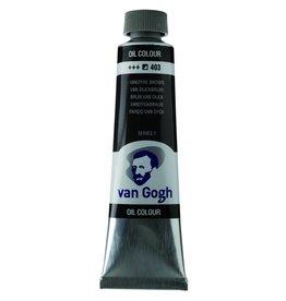 Talens Van Gogh oil paint tube 40ML Vandyke brown