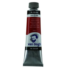 Talens Van Gogh oilpaint tube 40ML Transparent oxyd red