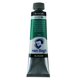 Talens Van Gogh oil paint tube 40ML Phthalo turquoise blue
