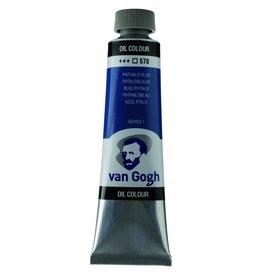 Talens Van Gogh oil paint tube 40ML Phthalo blue