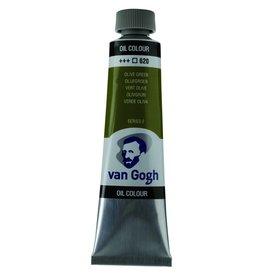Talens Van Gogh oil paint tube 40ML Olive green
