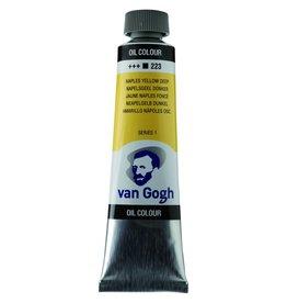 Talens Van Gogh oil paint tube 40ML Naples yellow deep