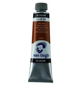 Talens Van Gogh oil paint tube 40ML Raw sienna