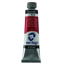 Talens Van Gogh oil paint tube 40ML Cadmium red deep