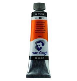 Talens Van Gogh oil paint tube 40ML Cadmium orange
