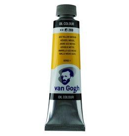 Talens Van Gogh oil paint tube 40ML Azo yellow medium