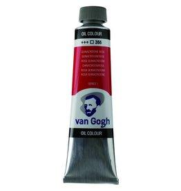 Talens Van Gogh oil paint tube 40ML Quinacridone rose