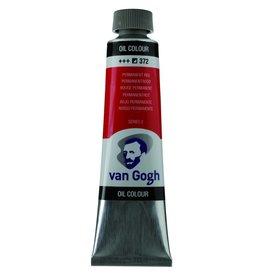 Talens Van Gogh oil paint tube 40ML Permanent red