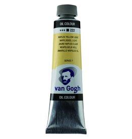 Talens Van Gogh oil paint tube 40ML Naples yellow light