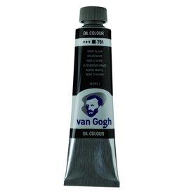 Talens Van Gogh oil paint tube 40ML Ivory black