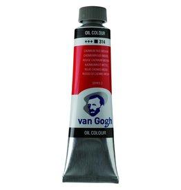 Talens Van Gogh oil paint tube 40ML Cadmium red medium