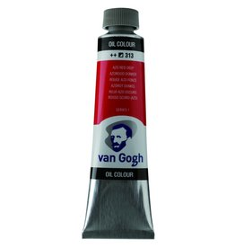 Talens Van Gogh oil paint tube 40ML Azo red deep