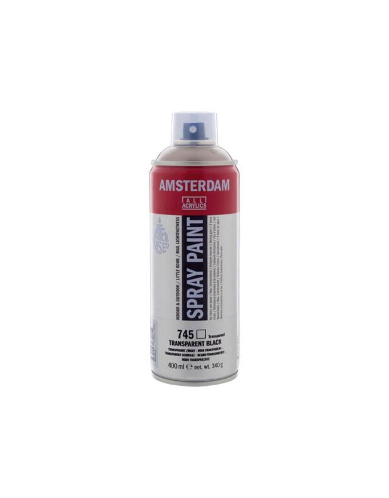 Talens Amsterdam acrylverf spray 400ML  Transparant zwart