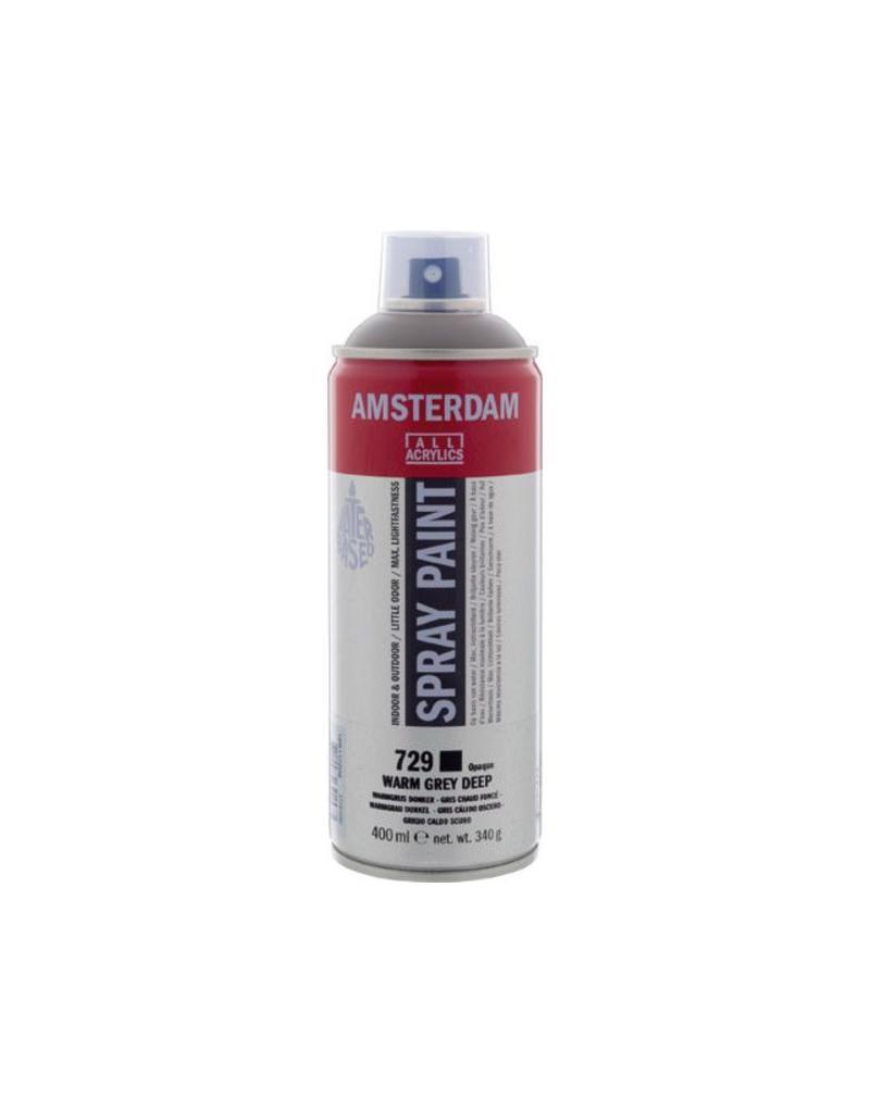 Talens Amsterdam acrylverf spray 400ML  Warmgrijs donker