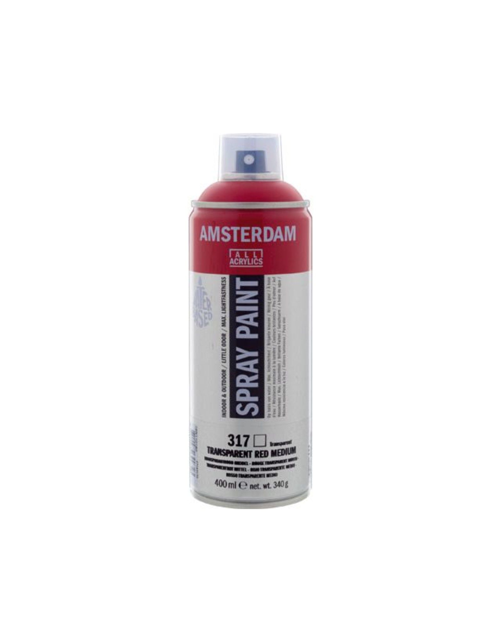 Talens spray 400ML  Transparant rood middel