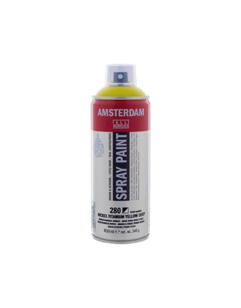 Talens Amsterdam acrylverf spray 400ML  Nikkeltitaangeel donker