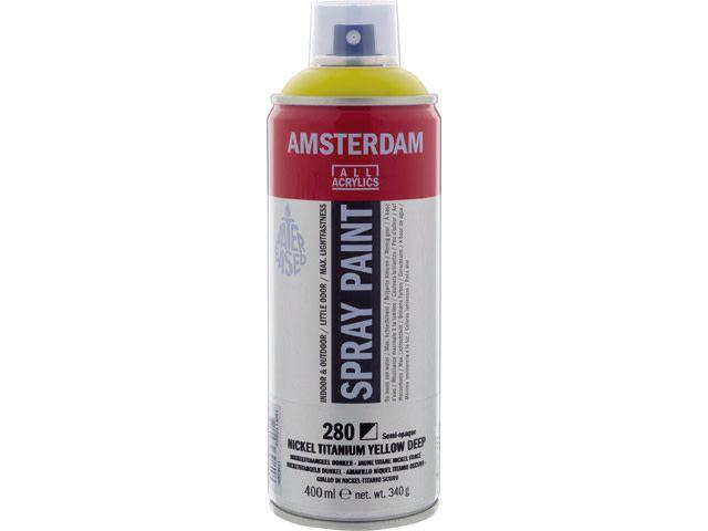 Talens spray 400ML  Nikkeltitaangeel donker