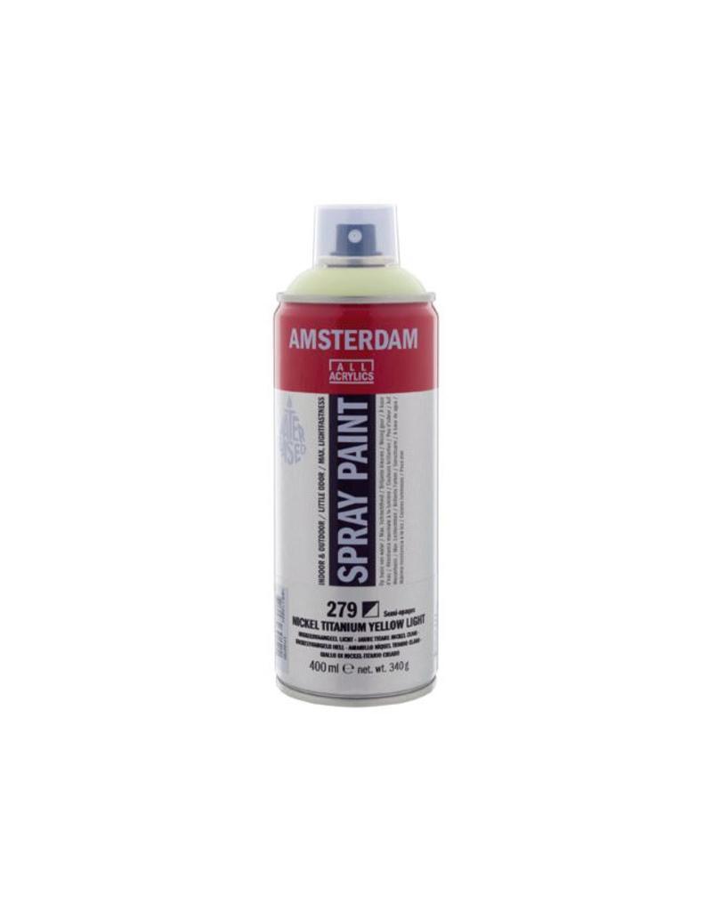 Talens Amsterdam acrylverf spray 400ML  Nikkeltitaangeel licht