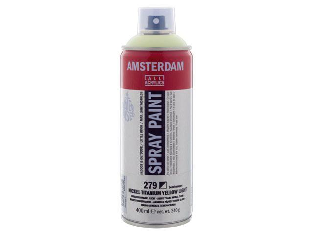 Talens spray 400ML  Nikkeltitaangeel licht