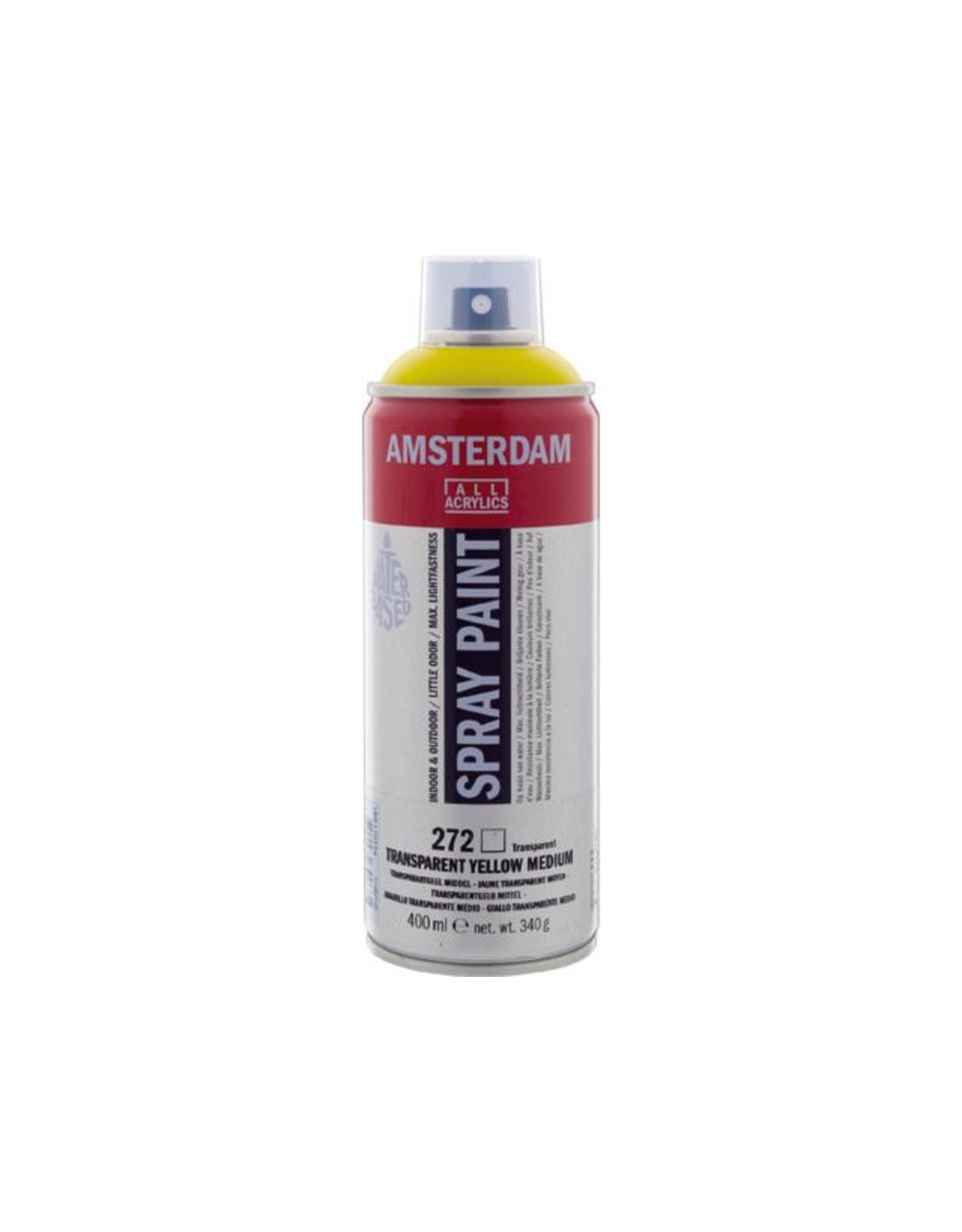 Talens spray 400ML  Transparant geel middel