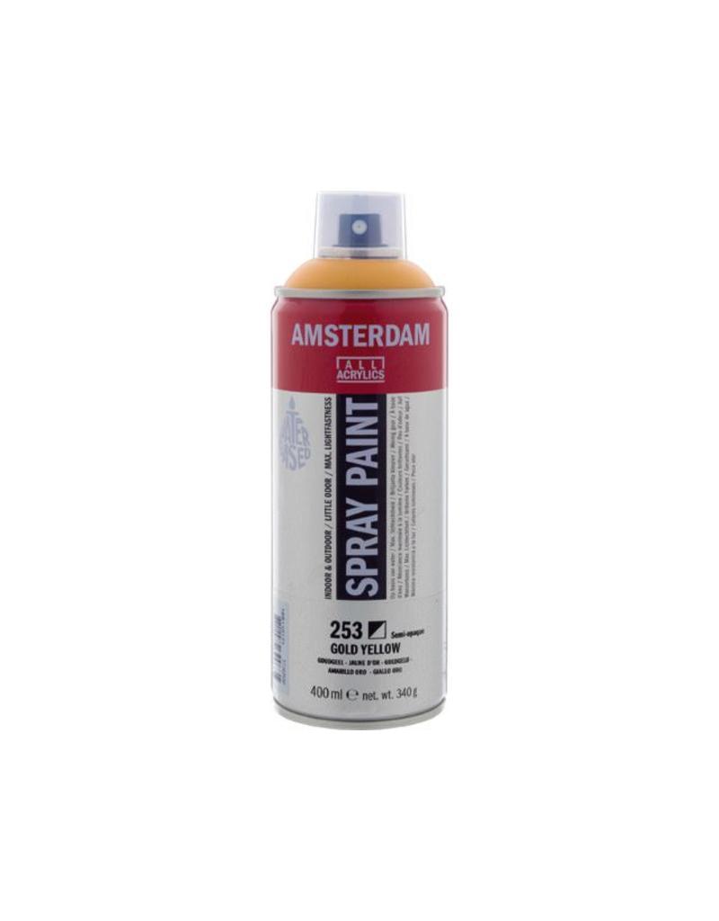 Talens Amsterdam acrylverf spray 400ML  Goudgeel