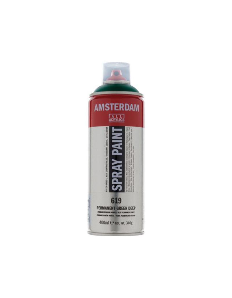 Talens Amsterdam acrylverf spray 400ML  Permanent groen donker