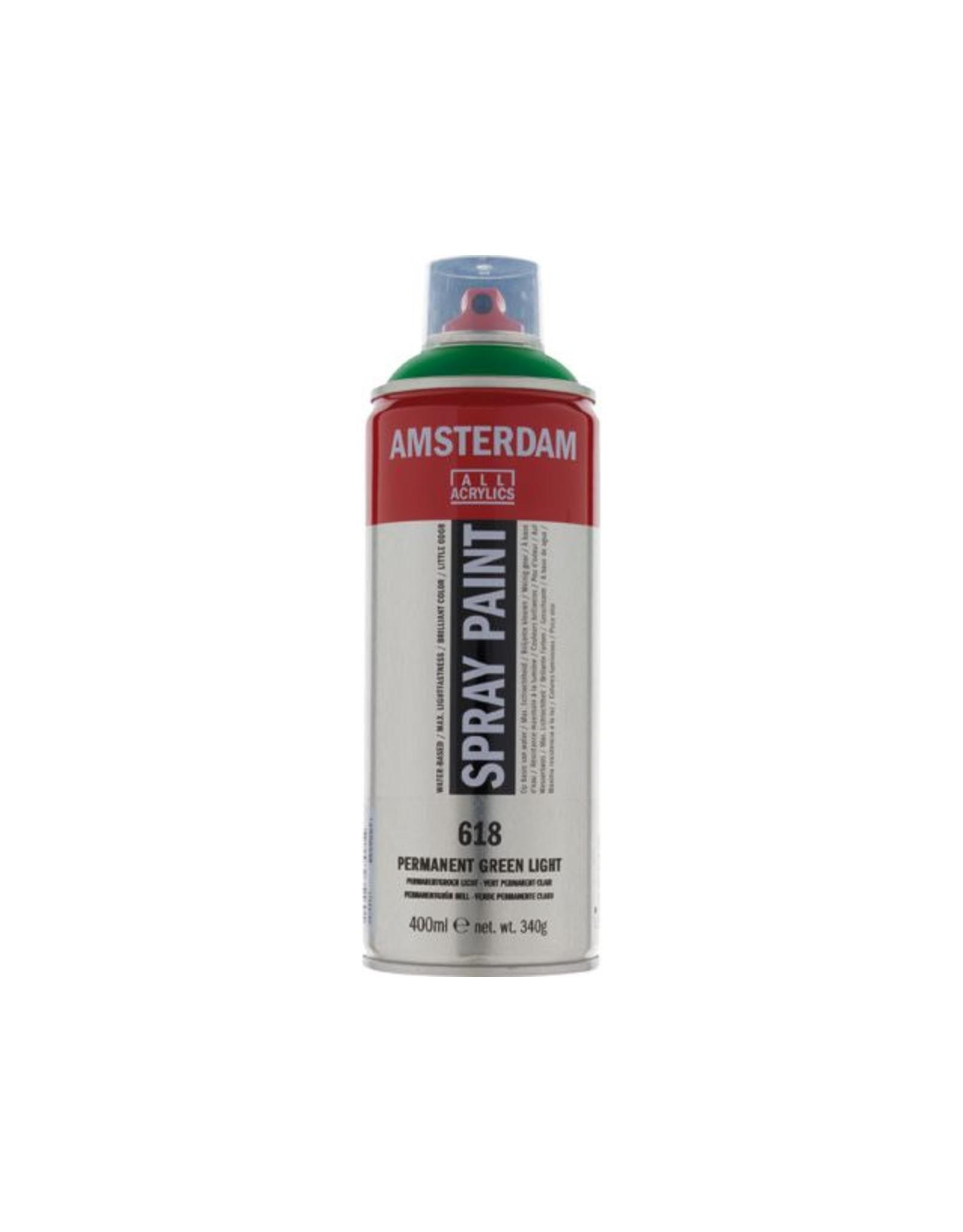 Talens spray 400ML  Permanent groen licht