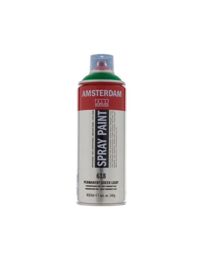 Talens Amsterdam acrylverf spray 400ML  Permanent groen licht