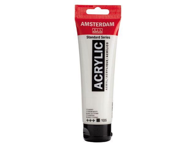 Amsterdam acrylverf Titaanwit 120ML