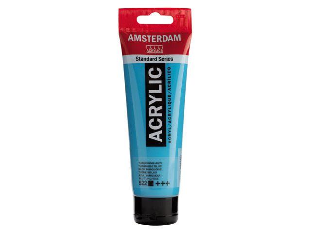 Talens Amsterdam acrylverf Turkooisblauw 120ML