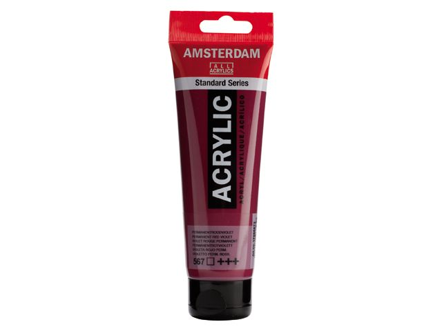 Talens Amsterdam acrylverf Perm. roodviolet 120ML