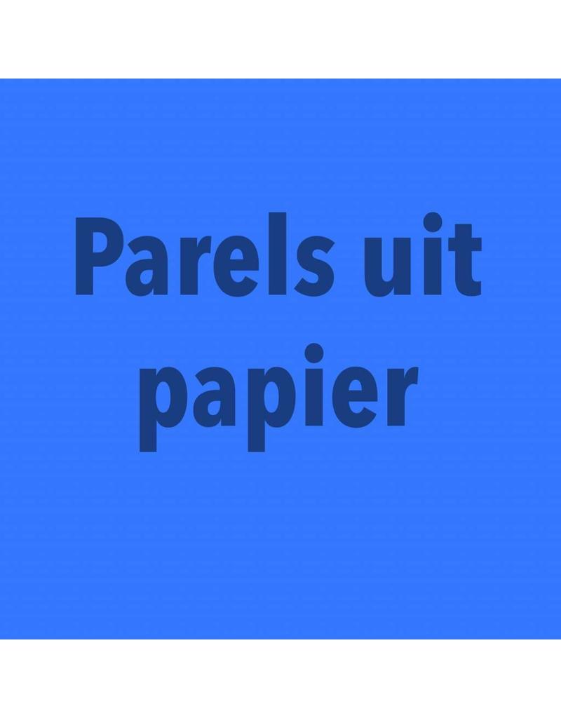 zaterdag 20/10 van 10.30u tot 16u30u parels uit papier