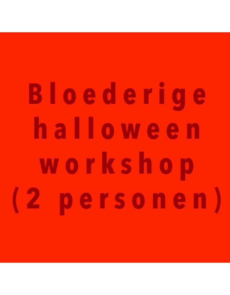 Zaterdag 27/10 van 10u30 tot 12u30 bloederige workshop