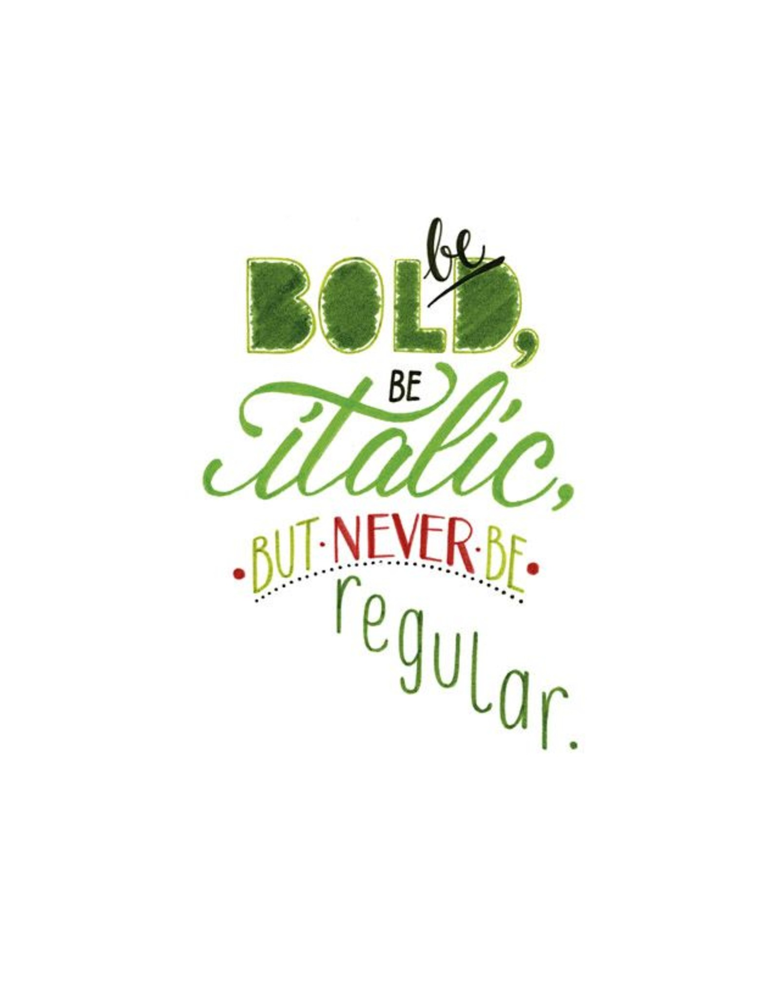 Faber Castell Be bold, be italic, but never be regular