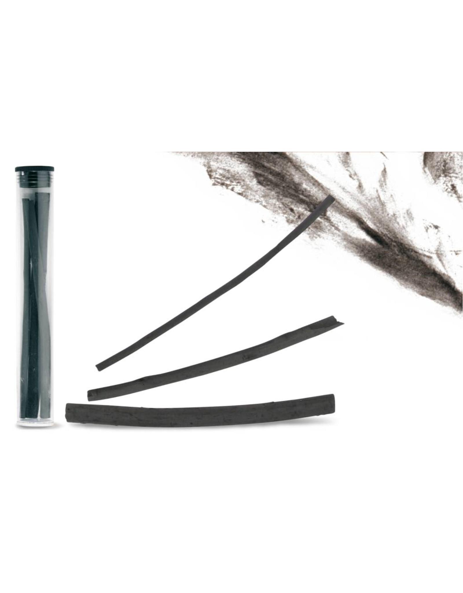 Caran d'Ache Natuurlijke houtskool, plastiek tube met 3 suks