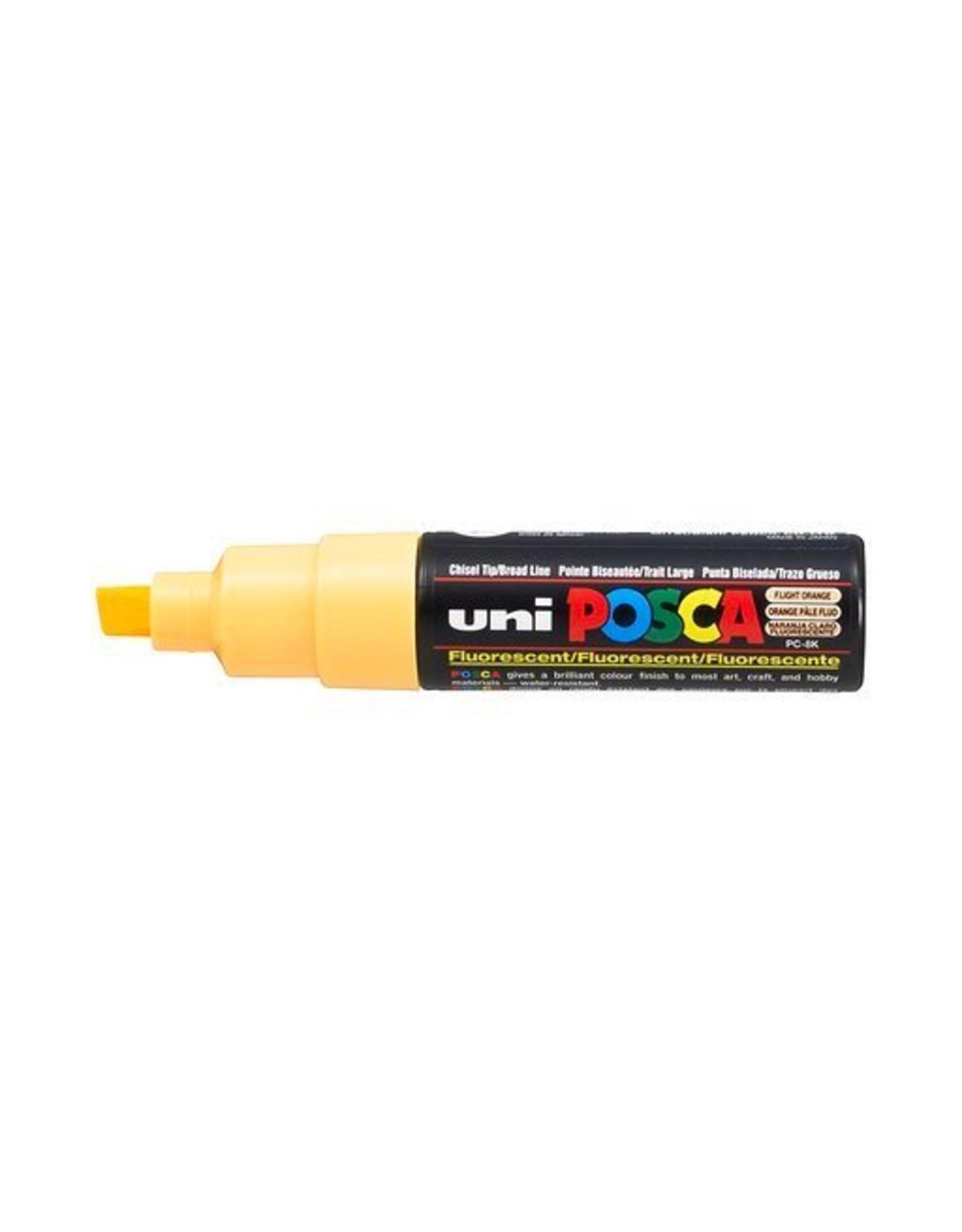 UNI POSCA PC8K Oranje Bleke Fluo