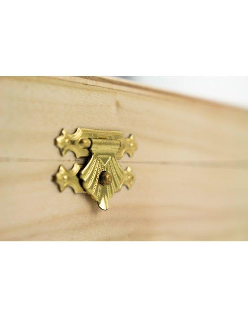 Retro houten tekendoos
