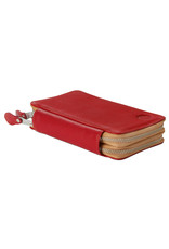 Leather schoolcase red